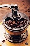 Old coffee mill with coffee beans Stock Photo - Premium Royalty-Free, Artist: Flowerphotos, Code: 659-03534190