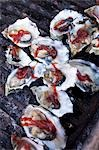 Barbecue Oysters on Half Shell Stock Photo - Premium Royalty-Free, Artist: John Cullen, Code: 659-03535873