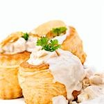 Vol-au-vents filled with ragout fin Stock Photo - Premium Royalty-Free, Artist: Westend61, Code: 659-03536032