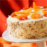 Pineapple Cream Cake with Dried Mango, Papaya and Toasted Coconut Stock Photo - Premium Royalty-Free, Artist: foodanddrinkphotos, Code: 659-03536173