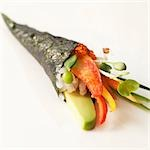 Sushi Cone with Lobster, Avocado and Salmon Roe Stock Photo - Premium Royalty-Freenull, Code: 659-03536205