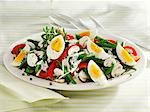 Colourful bean, egg and mushroom salad Stock Photo - Premium Royalty-Free, Artist: Westend61, Code: 659-03536361