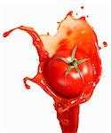 Tomato on ketchup splash Stock Photo - Premium Royalty-Free, Artist: CulturaRM, Code: 659-03536757