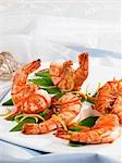 Prawns with julienne vegetables Stock Photo - Premium Royalty-Freenull, Code: 659-03537049