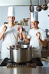 Two chefs satisfied with the results of their culinary skills Stock Photo - Premium Royalty-Free, Artist: Photocuisine, Code: 659-03537664