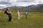 Female National Park Interpretive Ranger leades group on a *discovery hike* in the Eielson area Denali National Park Alaska Stock Photo - Premium Rights-Managed, Artist: AlaskaStock, Code: 854-03538115