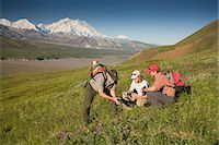 National Park Interpretive Ranger takes a young couple on a *Discovery Hike* near Eielson visitor center Denali National Park Alaska Stock Photo - Premium Rights-Managednull, Code: 854-03538152