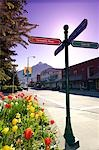 Crossroads street sign in downtown Sitka, Alaska during Summer Stock Photo - Premium Rights-Managed, Artist: AlaskaStock, Code: 854-03538634