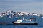 Alaska State Ferry leaving Homer in Kachemak Bay in Southcentral, Alaska Stock Photo - Premium Rights-Managed, Artist: AlaskaStock, Code: 854-03538695