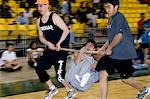 Boy's doing Wrist Carry 2006 Senior Native Youth Olympic Games Alaska Anchorage Sullivan Arena Stock Photo - Premium Rights-Managed, Artist: AlaskaStock, Code: 854-03538930
