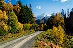 Fall colors and snowcapped peaks along the Palmer Creek Road near Hope in the Chugach National Forest on the Kenai Peninsula of Southcentral Alaska. Stock Photo - Premium Rights-Managed, Artist: AlaskaStock, Code: 854-03539149