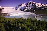 Aerial of Spencer Glacier Kenai Mountains Chugach National Forest Southcentral Alaska Summer Stock Photo - Premium Rights-Managed, Artist: AlaskaStock, Code: 854-03539220