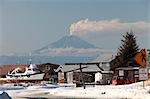 View of Mt. Redoubt and the ash cloud from a minor eruption as seen from Ninilchik, Alaska Stock Photo - Premium Rights-Managed, Artist: AlaskaStock, Code: 854-03539311
