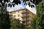 Functionalist Housing, Tessinparken, Gardet, Stockholm. Stock Photo - Premium Rights-Managed, Artist: Arcaid, Code: 845-03552464