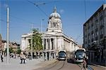 Old Market Square, Nottingham, England. RIBA Award winning redevelopment.  Architects: Gustafson Porter Stock Photo - Premium Rights-Managed, Artist: Arcaid, Code: 845-03552577