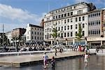 Old Market Square, Nottingham, England. RIBA Award winning redevelopment.  Architects: Gustafson Porter Stock Photo - Premium Rights-Managed, Artist: Arcaid, Code: 845-03552578