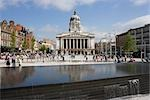 Old Market Square, Nottingham, England. RIBA Award winning redevelopment.  Architects: Gustafson Porter Stock Photo - Premium Rights-Managed, Artist: Arcaid, Code: 845-03552586