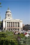 Old Market Square, Nottingham, England. RIBA Award winning redevelopment.  Architects: Gustafson Porter Stock Photo - Premium Rights-Managed, Artist: Arcaid, Code: 845-03552590