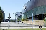 The Echo Arena, near the renovated Albert Docks, Liverpool, Merseyside, England.  Architects: Wilkinson Eyre Stock Photo - Premium Rights-Managed, Artist: Arcaid, Code: 845-03552605