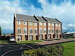 Liberty Park, Coventry. New build housing estate by Wates Developments at Liberty Park in Coventry. This new estate is the regeneration of the Hillside Meadway area for Whitefriars Services Ltd.  Architects: Wates Developments Stock Photo - Premium Rights-Managed, Artist: Arcaid, Code: 845-03553191