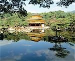 Kinkakuji Golden Pavilion, Kyoto, Japan (1397-1408, rebuilt 1955) Stock Photo - Premium Rights-Managed, Artist: Arcaid, Code: 845-03553283