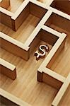 Golden Dollar Sign in Wooden Maze Stock Photo - Premium Rights-Managed, Artist: David Muir, Code: 700-03553415