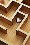 Golden Heart in Wooden Maze Stock Photo - Premium Rights-Managed, Artist: David Muir, Code: 700-03553420