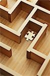 Golden Puzzle Piece in Wooden Maze Stock Photo - Premium Rights-Managed, Artist: David Muir, Code: 700-03553427