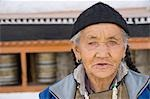 Portrait of a woman in a monastery, Chokhang Vihara, Leh, Ladakh, Jammu and Kashmir, India Stock Photo - Premium Rights-Managed, Artist: Photosindia, Code: 857-03553695