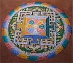 Mandala on the floor of a monastery, Chemery Monastery, Ladakh, Jammu and Kashmir, India Stock Photo - Premium Rights-Managed, Artist: Photosindia, Code: 857-03553706