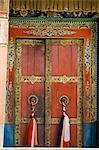 Closed door of a monastery, Thiksey Monastery, Ladakh, Jammu and Kashmir, India Stock Photo - Premium Rights-Managed, Artist: Photosindia, Code: 857-03553736