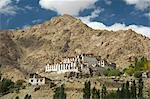 Monastery in front of a mountain, Likir Monastery, Ladakh, Jammu and Kashmir, India Stock Photo - Premium Rights-Managed, Artist: Photosindia, Code: 857-03553762