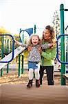 Mother and Daughter at Playground in Green Lake Park in Autumn, Seattle, Washington, USA Stock Photo - Premium Rights-Managed, Artist: Ty Milford, Code: 700-03554481