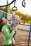 Mother and Daughter at Playground in Green Lake Park in Autumn, Seattle, Washington, USA Stock Photo - Premium Rights-Managed, Artist: Ty Milford, Code: 700-03554482