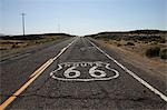 Route 66 Sign Painted on Highway, Eeastern California, USA Stock Photo - Premium Rights-Managed, Artist: Ed Gifford, Code: 700-03556865
