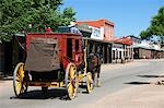 Backview of Horse Drawn Wagon, Tombstone, Cochise County, Arizona, USA Stock Photo - Premium Rights-Managed, Artist: Ed Gifford, Code: 700-03556873