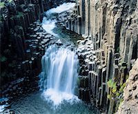 Cascade waterfall, elevated view Stock Photo - Premium Royalty-Freenull, Code: 693-03557379