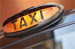 London taxi sign, close up Stock Photo - Premium Royalty-Free, Artist: Zoomstock, Code: 693-03565035