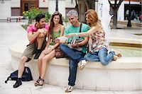 Group of tourists by fountain Stock Photo - Premium Royalty-Freenull, Code: 649-03566358