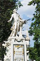 Statue of Mozart, Burggarten, Vienna, Austria Stock Photo - Premium Rights-Managednull, Code: 700-03567688