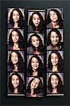 Photobooth Snapshots of Girl on Bulletin Board Stock Photo - Premium Rights-Managed, Artist: Andrew Kolb, Code: 700-03567703