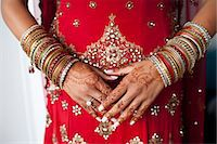 Close-up of Henna on Bride's Hands Stock Photo - Premium Rights-Managednull, Code: 700-03567853