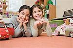 Little Girls Playing in Bedroom Stock Photo - Premium Rights-Managed, Artist: Kevin Dodge, Code: 700-03568004