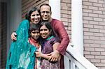 Portrait of Family in Front of Home Stock Photo - Premium Rights-Managed, Artist: Kevin Dodge, Code: 700-03568009