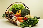 Basket of fresh vegetables Stock Photo - Premium Royalty-Free, Artist: Aurora Photos, Code: 621-03568677