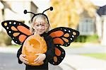 Girl in Halloween costume Stock Photo - Premium Royalty-Free, Artist: Sheltered Images, Code: 621-03569129