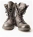 clean pair of army boots Stock Photo - Premium Royalty-Free, Artist: Natasha Nicholson, Code: 618-03571322
