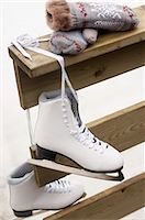 Mittens and ice skates Stock Photo - Premium Royalty-Freenull, Code: 618-03571568