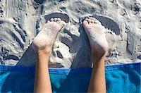 Sandy Feet Stock Photo - Premium Royalty-Freenull, Code: 618-03573483