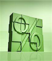 percentage symbol - Building blocks forming a percentage sign Stock Photo - Premium Royalty-Freenull, Code: 618-03573567